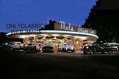 Mels Drive-In American Graffiti 8X12 Photo Hot Rod Corvette Olds Ford Chevrolet