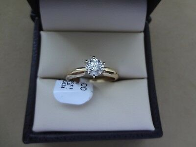 Classic 14K Yellow Gold .65 Ct Round Brilliant Diamond Solitaire Engagement Ring