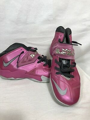 b669663174c9 Nike Zoom Lebron James Breast Cancer Awareness Pink Basketball Shoes Mens  11.5