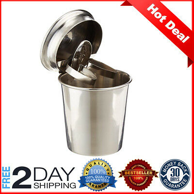 New Stinky Cigar Car Ashtray Polished Stainless Steel Finish