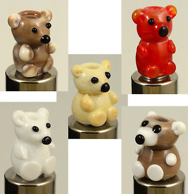 Embout drip tip 510 en verre hand made ours nounours teddy bear grizzly NEW