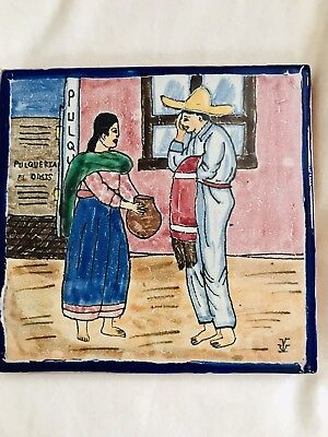 Vtg Uriarte Hand Painted Mexican Tile