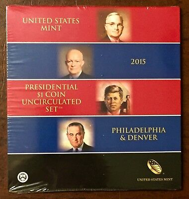 Presidential $1 Coin 2015 Uncirculated Set NO LONGER AVAILABLE FROM US MINT