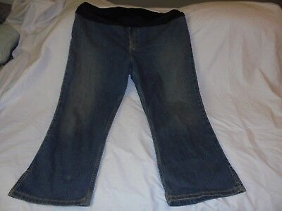 OLD NAVY MATERNITY STRETCH~Cropped JEANS~Sz Large