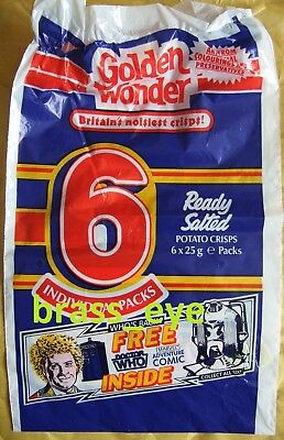 Dr Doctor Who Golden Wonder Original multi-pack blue bag Colin Baker 1980s RARE