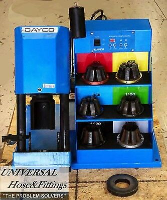 Hydraulic Hose Crimper Machine Dayco Np 60 . Crimps All Brands Of Fittings