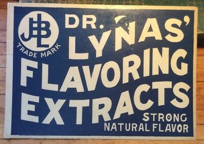 Dr. Lynas Flavoring Extracts Original Card Stock Sign FREE SHIPPING INV WB001