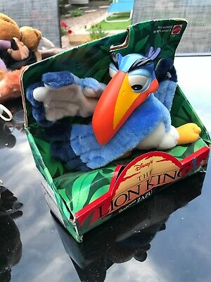 Rare Disney The Lion King Vintage Zazu Plush Toy in original box