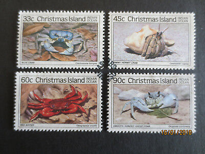 NO--2--1985   CHRISTMAS    ISLAND  CRABS   Part  11--4  STAMPS--F/S--USED
