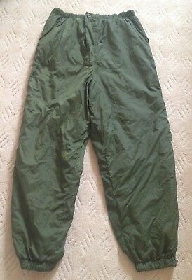 British army thermal softie trousers, reversible green / sand (desert)