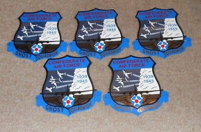 "Confederate Air Force Ghost Squadron Lot Of Five 5 3/4"" X 5 1/2"" Stickers"