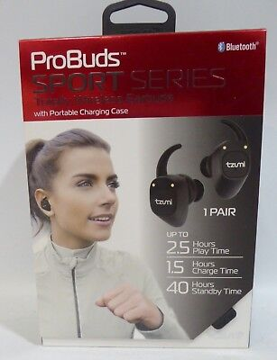 20bc09d18b9 Tzumi Probuds Sports Series Wireless Earbuds W/Portable Charging Case