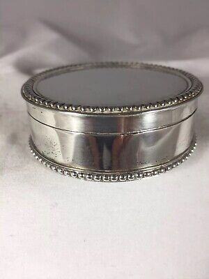 """""""Fine Quality"""" Continental Solid Silver 830S Trinket/jewellery Box Hinged Lid"""