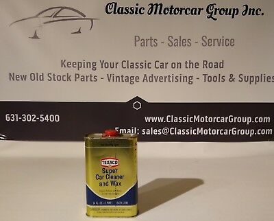 Texaco Super Car Cleaner and Wax Vintage 16oz Full Oil Can Dated 1968