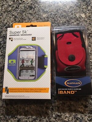 NATHAN SUPER 5K Running Armband For iPhone 4 5 6 Galaxy S3 S4 BRAND NEW + bonus