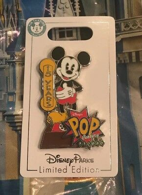 Disney Pop Century Resort 15 Year Anniversary Mickey LE Pin LE 1000 New