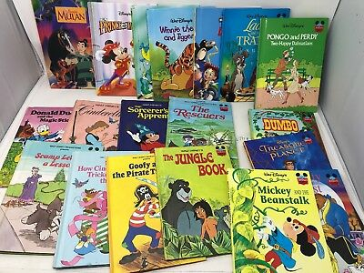 Lot 20 Vtg Current  Disney Wonderful World Of Reading Children Book Hardcover