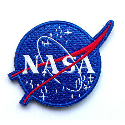 Usa NASA Space Center Astronaut Program Embroidered Morale Hook Patch Blue Badge