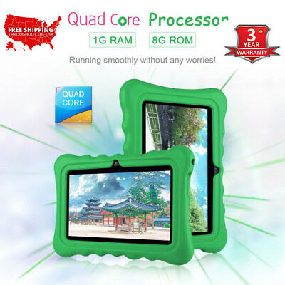 """7"""" Tablet Android7.1 3G 1GB+8GB For Kids Education USB WIFI +Silicone Case GIFT"""