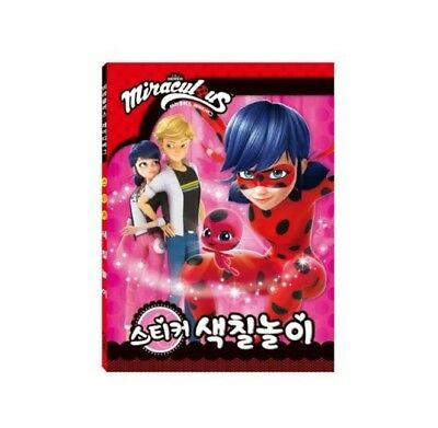 Miraculous Ladybug Activity Play Coloring Book Sticker Character For Kid Toy