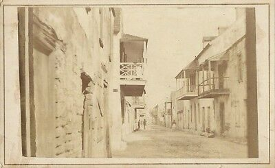 Original Antique CDV Photo St. Augustine, Florida, Charlotte Street ~ mid-1800s