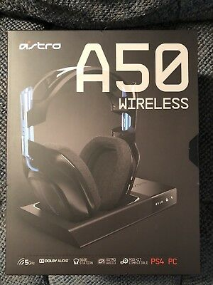ASTRO Wireless Gaming A50 Dolby Gaming Headset (Black/Blue) PS4 / PC New Gen 3
