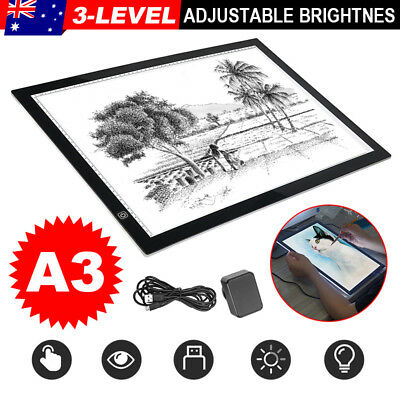 A3 LED Light Box Tracing Board Art Design Stencil Drawing Pad Copy Lightbox flc