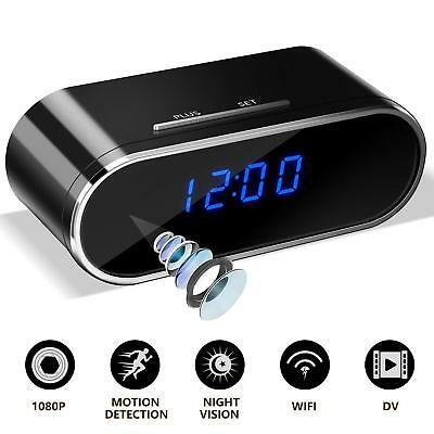 HD 1080P Wifi Mini Spy Hidden Security IP Camera Clock Wireless Motion Smart Cam