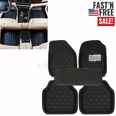 5PCS Universal Car Floor Mats Front & Rear Liner All Weather Auto Waterproof Mat