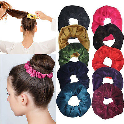 6 Pieces Women Velvet Hair Scrunchies Elastics Hair Bands Soft Chunky Hair Ties