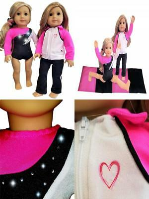 Doll Connections MIX MATCH Gymnastics Outfit Compatible with American Girl Dol