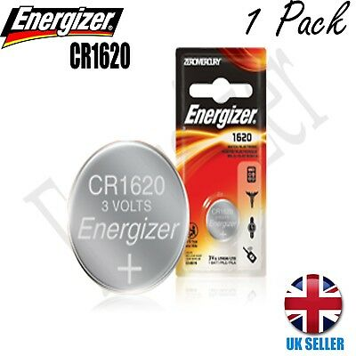 1 x Energizer 1620 CR1620 3V Lithium Coin Cell Battery UK
