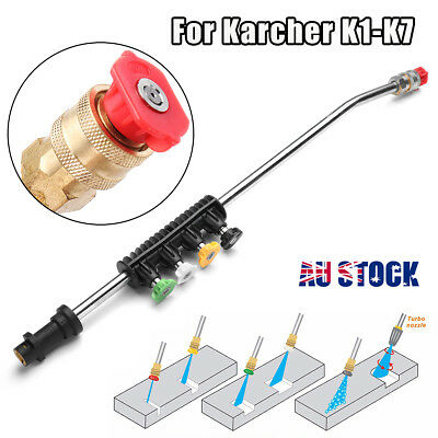 Car Washer Metal Jet Lance Nozzle 2600PSI+ 5 Quick Nozzle Tips For Karcher K1-K7