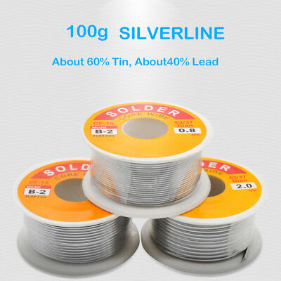 Quality Tin Lead Silver Solder Wire Flux Multi Rosin Cored Solder 20g-100g UK