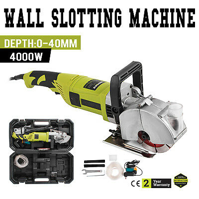 Electric Wall Chaser Groove Cutting Machine Wall Slotting 4000W Width 33mm