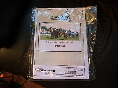 Cross Stitch Kit - John Clayton Collection - Horse Racing