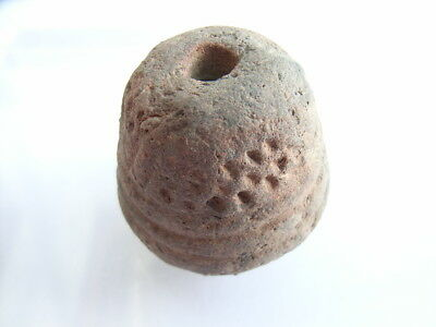 1 Ancient Neolithic Clay Bead, Stone Age, VERY RARE !!  TOP !!