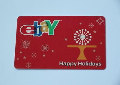 eBay Happy Holidays Collectible Promo Gift Card Limited Edition $0 Value