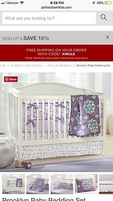 13 pc pottery barn kids toddler peter rabbit crib set 275 00