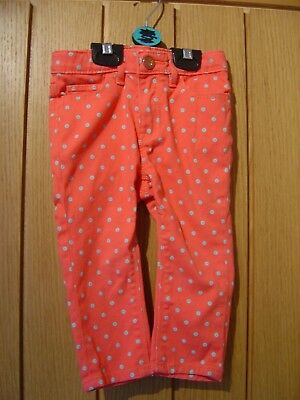 Baby Gap 1969 Orange Coral Blue Spotted Trousers Age 3 (Ref H) Ex Con