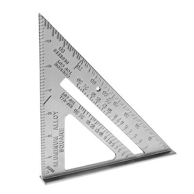 7'' Right Angle Triangle Ruler Adjustable for Engineers Industrial Measurement