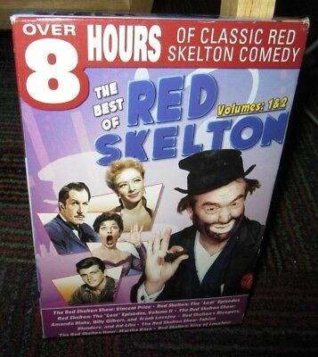 The Best Of Red Skelton Volume 1 & 2 2-Disc Dvd Box Set, Classic Comedy, 8+ Hrs
