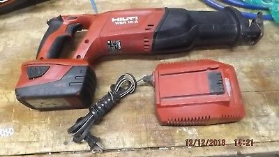 Hilti WSR 18-A Reciprocating Saw w/ 3.3 Ah Battery and Charger