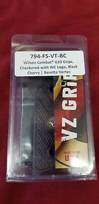 BERETTA 92 96 Vertec FS G checkered Wood Grips w Trident Medallion