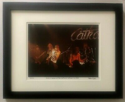 Guns N' Roses Rare Cathouse live Slash Axl Rose 1989 fine art photo signed #26