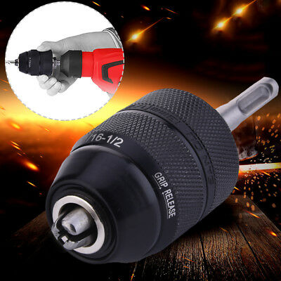 13MM Professional HSS Keyless Drill Chuck with SDS Adaptor Hardware Tool Part UK