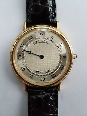 Breguet Jump Hour 18k Yellow Gold Wrist Watch with Gold Rotor, Ref. No. 3620