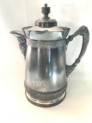 ANTIQUE WILCOX Silver Plate Co. Quadruple Plate # 387 Water Pitcher Coffee Pot