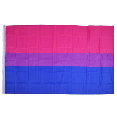 3x5 Ft Double Stitched Bisexual Flag Pride Banner Gay Lesbian LGBT Canvas Header