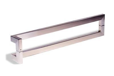 Modern Contemporary 32 inches Square Rectangle Flat L-Shape Bar Stainless-Steel